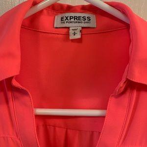 Express Portofino Blouse- hot pink